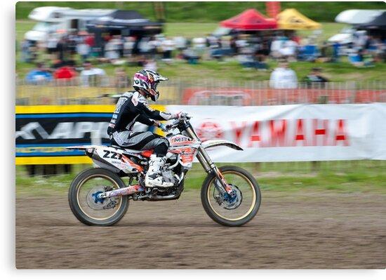 Motorcross Rider by Michael Hollinshead