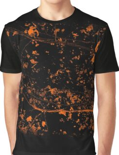Whispers of nature - Orange Leaves Graphic T-Shirt