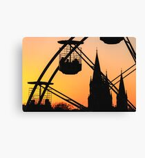 Ferris Wheel at Sunset Canvas Print