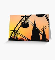 Ferris Wheel at Sunset Greeting Card