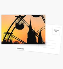 Ferris Wheel at Sunset Postcards