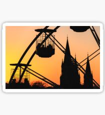 Ferris Wheel at Sunset Sticker