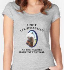 Met li'l sebastian at pawnee harvest festival Women's Fitted Scoop T-Shirt
