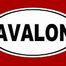 Avalon New Jersey Oval Design by KWJphotoart
