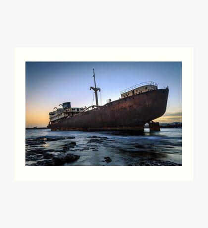 Telamon, AKA Temple Hall Shipwreck Art Print