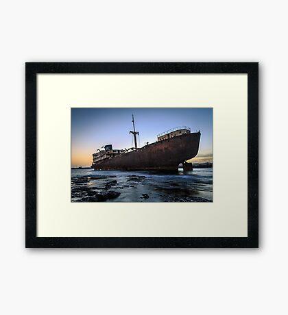 Telamon, AKA Temple Hall Shipwreck Framed Print