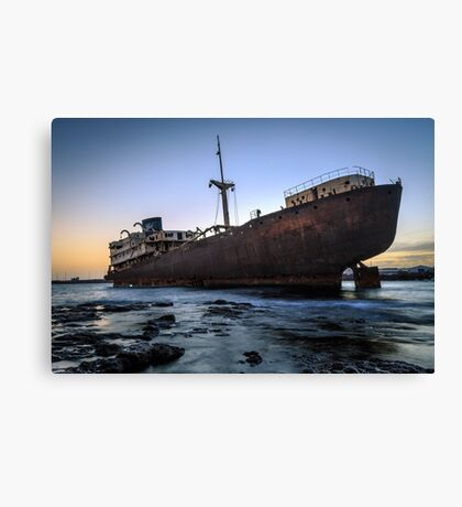 Telamon, AKA Temple Hall Shipwreck Canvas Print