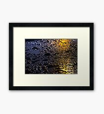 Rain Drops in Color Framed Print