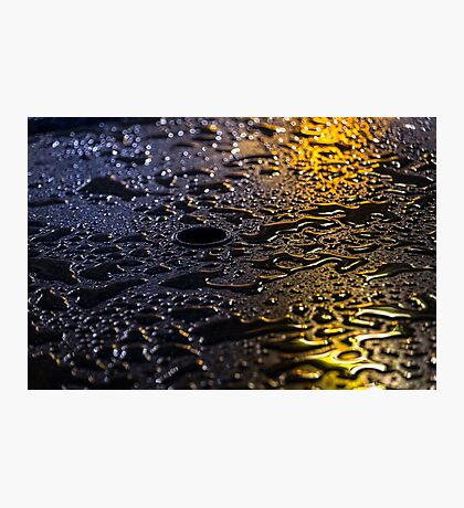 Rain Drops in Color Photographic Print