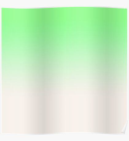 Ombre in Green by Julie Everhart Poster