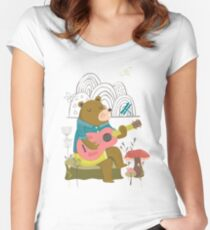Happy Bear Day Fitted Scoop T-Shirt