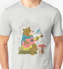 Happy Bear Day Slim Fit T-Shirt
