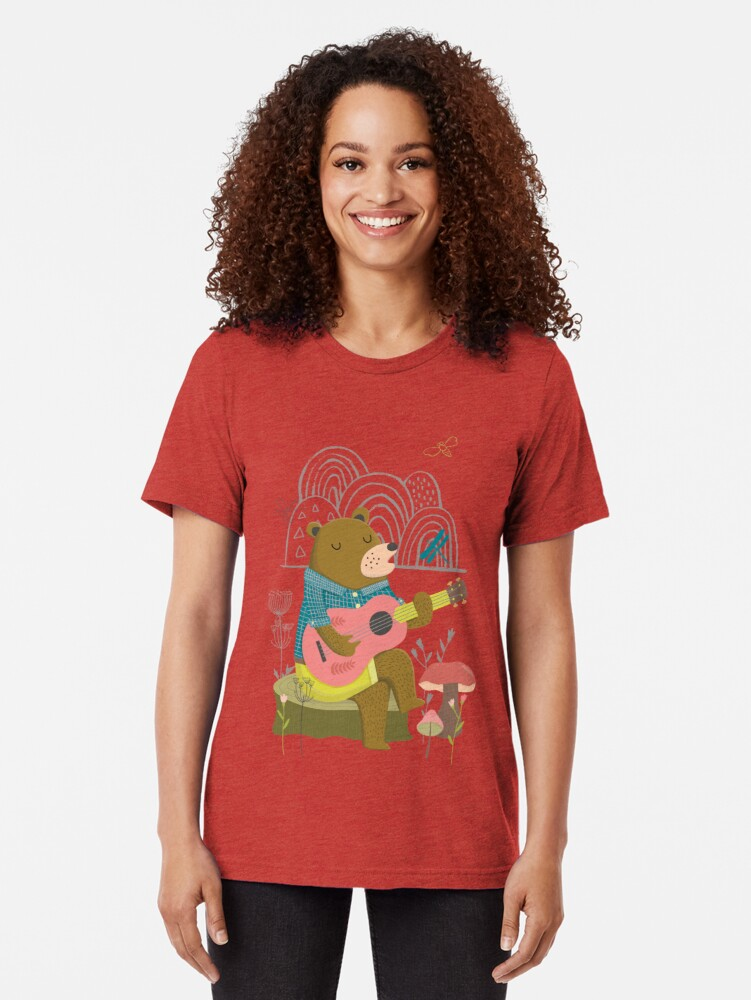 Alternate view of Happy Bear Day Tri-blend T-Shirt