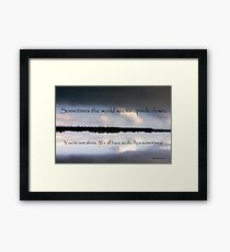 Upside Down... Framed Print