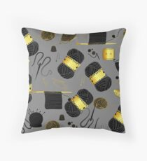 Golden Yarn Throw Pillow