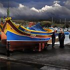 Moby Dick --- A ''Luzzu'' The pride of the Maltese fishermen (Marsaxlokk Malta) by Edwin  Catania