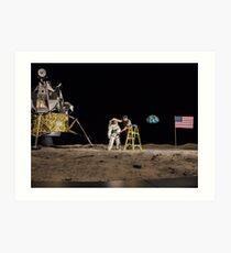 NASA Lies Moon Hoax Art Print