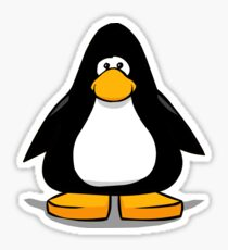 Black club penguin  Sticker