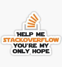 Help me stackoverflow Sticker