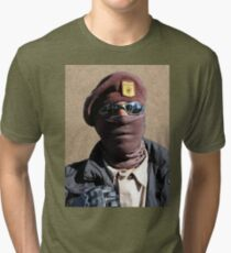 7db4aaaca75bf Brown Beret 2017 Tri-blend T-Shirt
