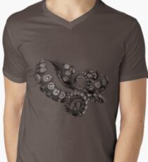 Octopus Tentacle Two-Tone Drawing T-Shirt