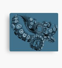 Octopus Tentacle Two-Tone Drawing Canvas Print
