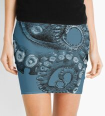 Octopus Tentacle Two-Tone Drawing Mini Skirt