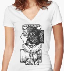 Toad Lady Women's Fitted V-Neck T-Shirt