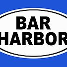 Bar Harbor Maine Oval Design by KWJphotoart