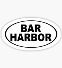 Bar Harbor Maine Oval Design Sticker