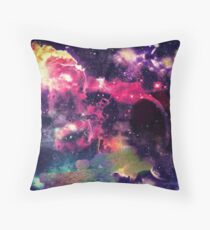 Galaxy color explosion Throw Pillow