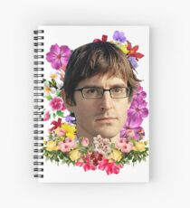 Louis Theroux Floral Spiral Notebook