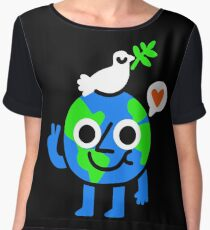 World Peace & Love Women's Chiffon Top