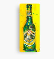 Mythos Brewery Beer Art Print from Original Beer Art Watercolor - Greece - Carlsberg - Man Cave Canvas Print