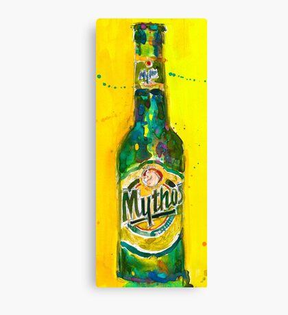 Mythos Brewery Beer Art Print from Original Beer Art Watercolor - Greece - Carlsberg - Man Cave Canvas Print