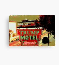 TRUMP MOTEL Canvas Print