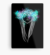 Elegant Mask - Dark Background Metal Print