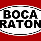 Boca Raton Florida Oval Design by KWJphotoart