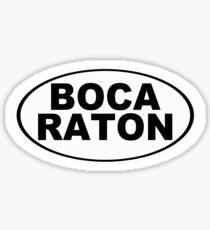 Boca Raton Florida Oval Design Sticker