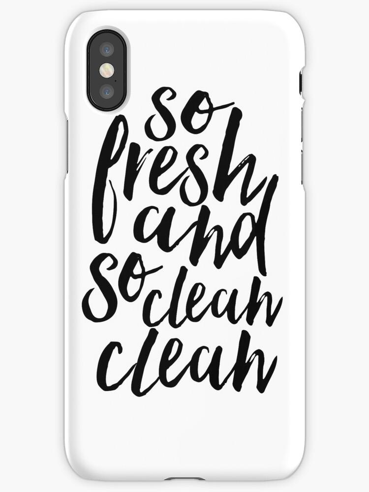 Vinilos y fundas para iPhone «tan fresco y tan limpio, limpio, baño ...