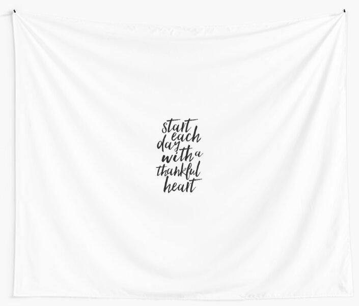Start each day with a thankful heartoffice decoroffice wall artbedroom