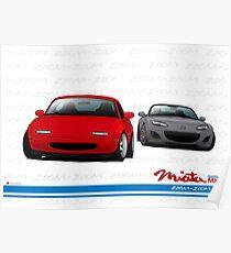 Mazda MX-5 Miata NA and NC Poster