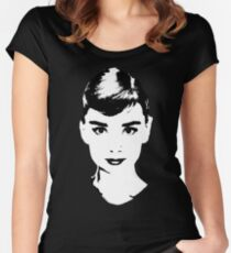 Audrey Icon - One:Print Women's Fitted Scoop T-Shirt