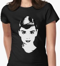 Audrey Icon - One:Print Womens Fitted T-Shirt