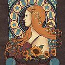 Amy Pond art nouveau by koroa
