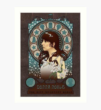Donna Noble art nouveau Art Print