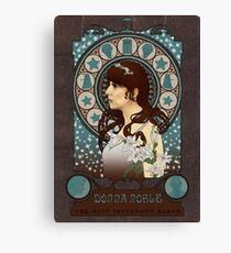 Donna Noble art nouveau Canvas Print