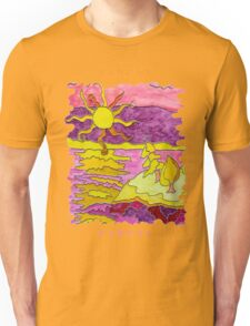 OCEAN ART SUNSET FUNNY SUNDAY FUNDAY  Unisex T-Shirt