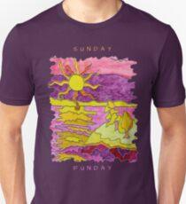OCEAN ART SUNSET FUNNY SUNDAY FUNDAY  Unisex T-Shirt
