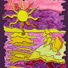 OCEAN ART SUNSET FUNNY SUNDAY FUNDAY  by Nicola Furlong